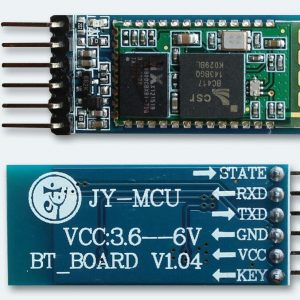 """Hardware Features: Typical -80dBm sensitivity Up to +4dBm RF transmit power Low Power 1.8V Operation ,1.8 to 3.6V I/O PIO control UART interface with programmable baud rate With integrated antenna With edge connector Software Features: Default Baud rate: 38400, Data bits:8, Stop bit:1,Parity:No parity, Data control: has. Supported baud rate: 9600,19200,38400,57600,115200,230400,460800. Given a rising pulse in PIO0, device will be disconnected. Status instruction port PIO1: low-disconnected, high-connected; PIO10 and PIO11 can be connected to red and blue led separately. When master and slave are paired, red and blue led blinks 1time/2s in interval, while disconnected only blue led blinks 2times/s. Auto-connect to the last device on power as default. Permit pairing device to connect as default. Auto-pairing PINCODE:""""0000"""" as default Auto-reconnect in 30 min when disconnected as a result of beyond the range of connection."""
