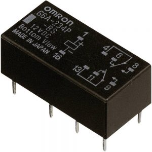 Omron-DPDT-Non-Latching-Relay-PCB-Mount-12V-dc-Coil-2A