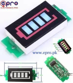 lithium battery capacitor indicator module display diagram