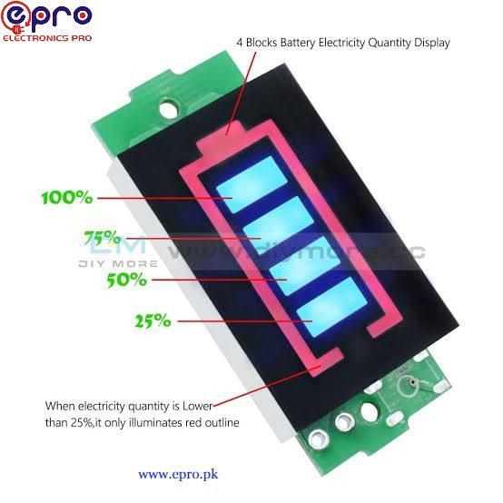 lithium battery capacitor indicator module display working