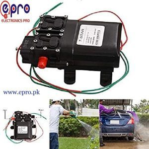 12V 80W DC High Pressure Water Pump 2 in 1 in Pakistan