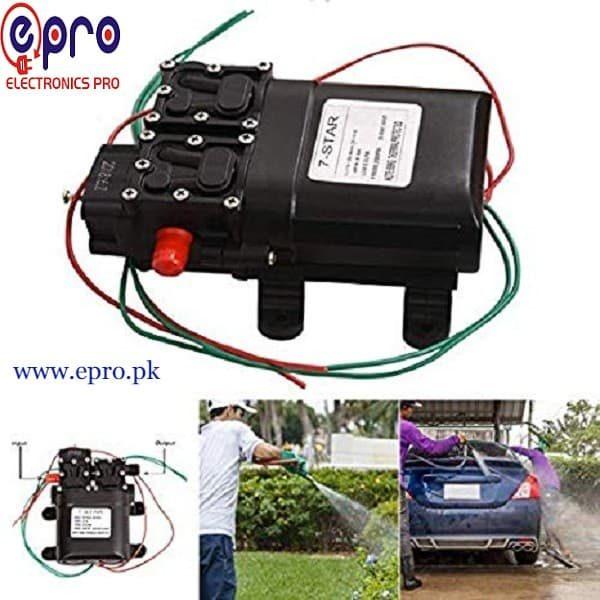12V 80W DC High Pressure Water Pump 2 in 1 in Pakistan