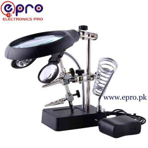 Magnifier with Auxiliary Clip and 5 LED in Pakistan