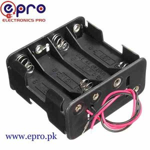 4 x AA Battery Cell Holder Square Case Housing in Pakistan