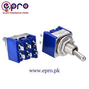 Toggle Switch MTS-202 ON-ON 6 Pins DPDT Mini Toggle Switch in Pakistan