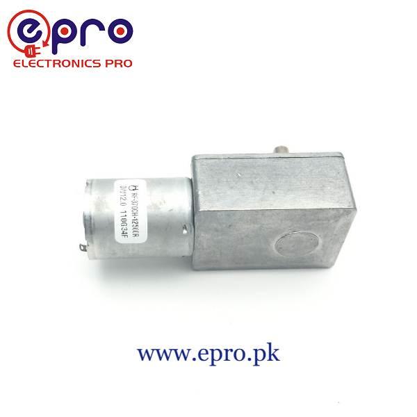 DC Motor 2RPM Reverse High Torque Turbo Worm 1 Gear Motor in Pakistan