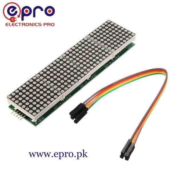 MAX7219 Dot Matrix Module Microcontroller 4 in 1 Display in Pakistan