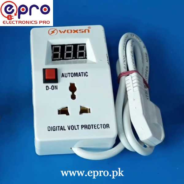 Muhafiz Over Under Voltage Protection with Volt Meter and 3 Minute Delay in Pakistan