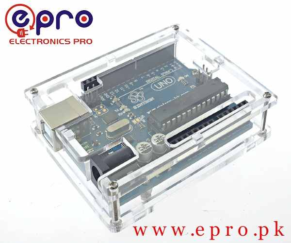 Transparent Acrylic Casing Enclosure Gloss Box for Arduino UNO in Pakistan