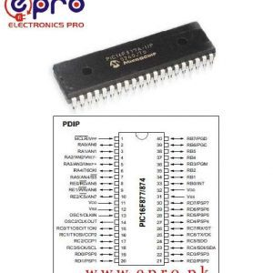 Microchip PIC16F877 20P 8bit PIC Microcontroller 20MHz 256 x 8 words 8K x 14 words Flash 40 Pin PDIP in Pakistan