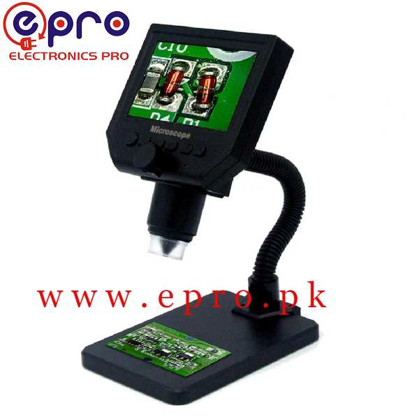 G600 Digital Microscope G-600 Digital Microscope 4.3in HD LED 3.6MP 1-600X Continuous Magnifier with LCD