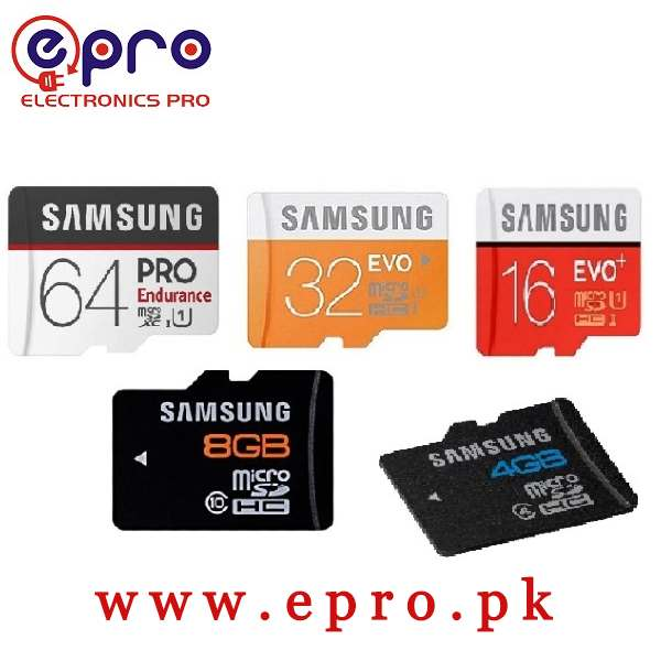 Samsung Class 10 High Speed Memory Card 4GB, 8GB, 16GB, 32GB, 64GB in Pakistan
