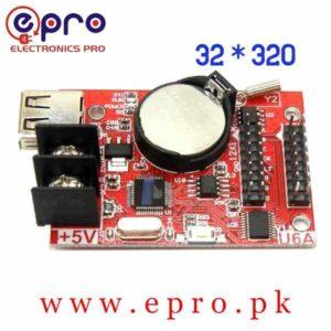 USB Port Single Double Color LED Display Controller Card 32 * 320 Pixels HD U6A in Pakistan