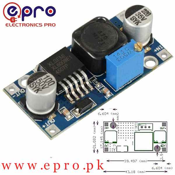 XL6009 DC to DC Boost Converter Voltage Booster in Pakistan