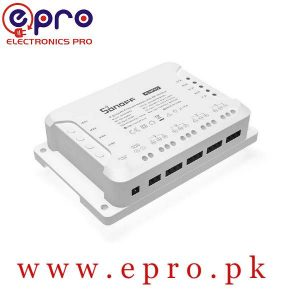 Sonoff 4CH R3 4 Channel Din Rail Mounting WiFi Switch Smart Home Remote Control Wireless Timer DIY Switch Work with Alexa in Pakistan