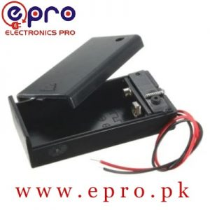 9V DIY ABS Universal Battery Storage Supply Holder Boxes with Lead Wire On Off Switch in Pakistan