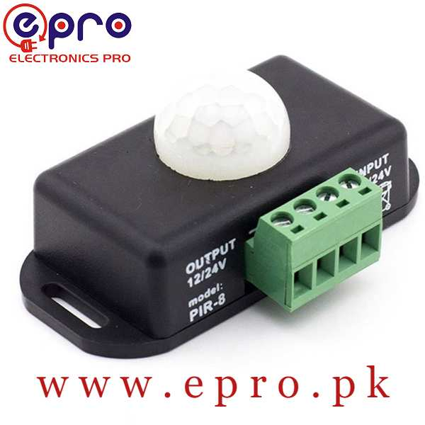 PIR 8 Controller 12V 24V PIR Sensor LED Dimmer Switch Motion Timer Function Sign Control LED Strip Tape Lights in Pakistan