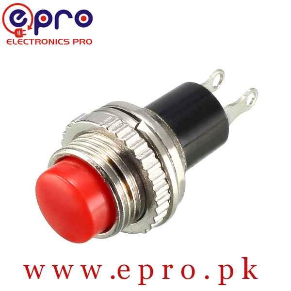 10mm Mounting Hole Red Momentary Push Button Switch SPSTin Pakistan