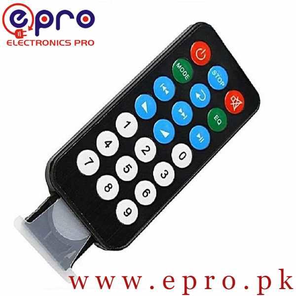 Universal Infrared IR MP3 Remote in Pakistan