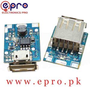 5V 1A Step-Up Power Module Lithium Battery Charging Protection Board Booster Converter in Pakistan